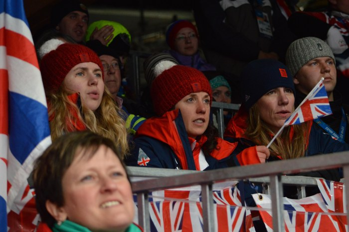 Team GB media team waiting for the result