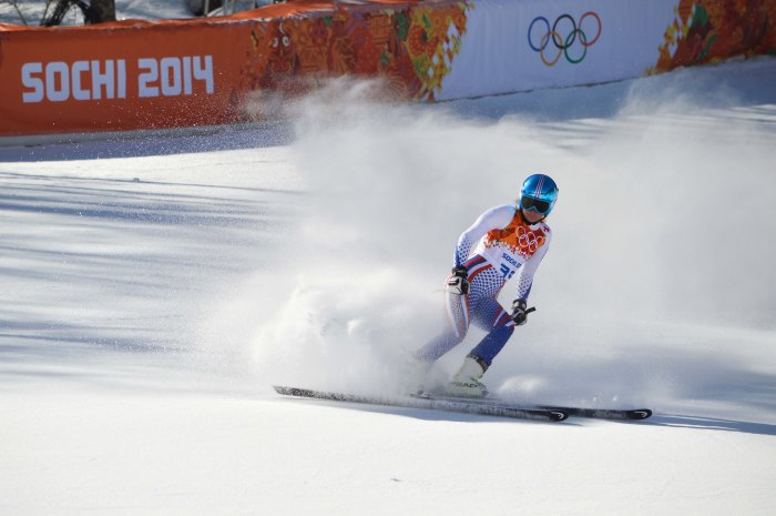 Women's downhill skiiers can travel up to 100kph
