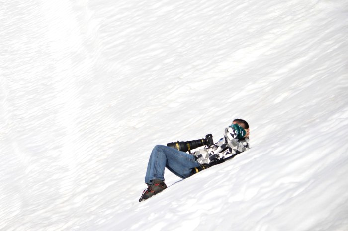 Chiller on the side of the Extreme Park slopestyle hill